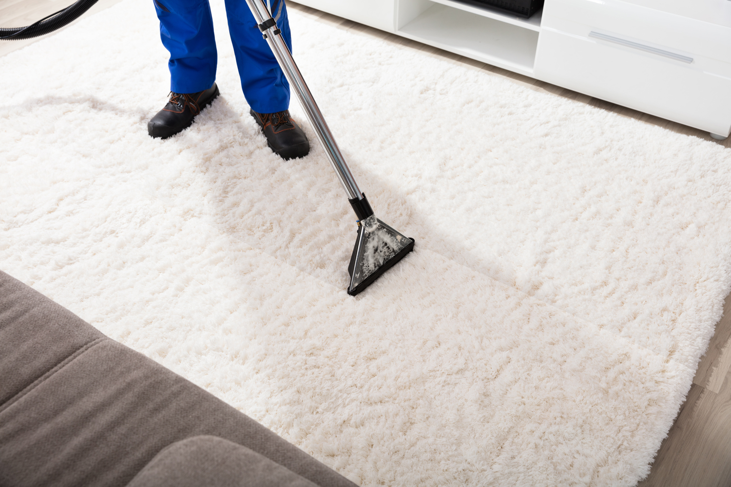 Carpet Cleaning Service Guaranteed One Minute Dry Time
